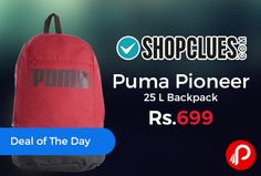 Shopclues #DealofTheDay is offering 36% off on #Puma Pioneer 25 L #Backpack Just at Rs.699. This backpack from PUMA is stylish and well-organised to keep all your essentials in place. Team it with almost anything for a laid-back casual look.   http://www.paisebachaoindia.com/puma-pioneer-25-l-backpack-just-at-rs-699-shopclues/