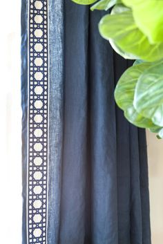 Navy Blue Drapes | Linen Drapes | Taylor Burke Home Drapes | Coastal Family Room | Designer: Juxtaposed Interiors