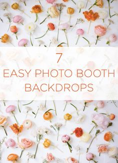 We LOVE these ideas for photo booth backdrops!