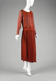 Jacques Doucet Ensemble, Wool, Silk and Glass, 1920-23