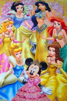 Disney Princesses-love the addition of Minnie!