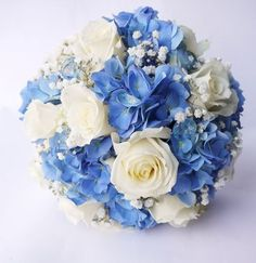 horenzia, kytica, wedding flowers Gold Wedding Theme, Blue Wedding Flowers, Blue Flowers, Wedding Reception, Wedding Ideas, Prom Ideas, Flower Centerpieces, Wedding Centerpieces, Wedding Bouquets