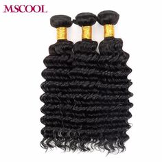 3Pcs/Lot Deep Curly Human Hair Extension 8A Peruvian Deep Wave Virgin Hair AliQueen Remy Hair Deep Wave Fast Shipping