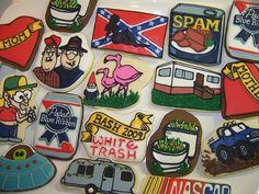"White Trash Bash-    These designs were for a neighbor's annual party we went to this weekend. This year's theme was ""White Trash Bash"". We had a lot ot laughs coming up with these. Thanks Callye (sweetsugarbelle) for helping me brainstorm!! And thanks Jeff Foxworthy for all your jokes!"
