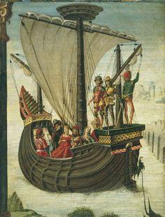 The Argonauts Leaving Colchis by Ercole de Roberti, c. 1480 Tempera and oil on panel. 35 x 26.5 cm. Museo Thyssen-Bornemisza, Madrid.