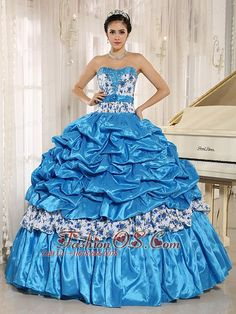 Buy hot sale printing beaded pick ups aqua blue quinceanera dress from wholesale quinceanera dresses collection, sweetheart ball gowns in aqua blue color,cheap dress with lace up back and for sweet 16 quinceanera . Red Sweet 16 Dresses, Sweet Sixteen Dresses, Dress For Summer, Cheap Quinceanera Dresses, Quinceanera Party, Aqua Blue Dress, Purple, Dresser, Quince Dresses