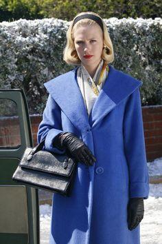 Betty's electric blue coat