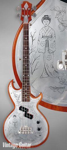 Custom Zemaitis 'Geisha' Bass Guitar