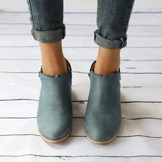 US$ 29.95 - Women Low Heel Round Toe Lace-Up Casual Boots - www.ebuytide.com Low Heel Ankle Boots, Low Boots, Sexy Boots, Casual Boots, Low Heels, Short Ankle Boots, Boot Brands, Boots Online, Slip On
