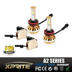 Xprite A2 Series H11 (H8, H9) Cree COB LED Headlight Bulbs All-in-One Conversion Kit - 60W 6400Lm 3000K 6000K 10000K - 2 Yr Warranty -- Awesome products selected by Anna Churchill