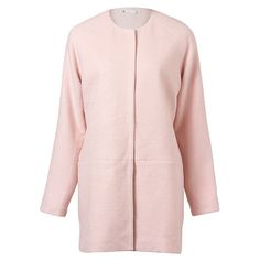 Cocoon Coat Pink (€35) found on Polyvore
