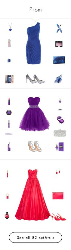 """Prom"" by billsacred ❤ liked on Polyvore featuring Anoushka G, Boohoo, Thierry Mugler, Rimmel, Stila, NARS Cosmetics, Badgley Mischka, Natasha Couture, Belk & Co. and Amanda Rose Collection"