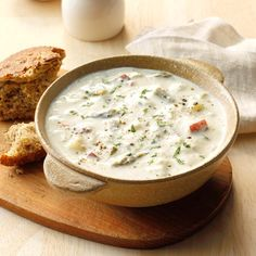 Crab and Asparagus Soup - Taste of Home Crab And Asparagus Soup Recipe, Creamed Asparagus, Crab Bowl Recipe, Creamy Crab Soup, Cream Of Crab Soup Recipe, Seafood Recipes, Cooking Recipes, Pie Recipes, Detox Recipes