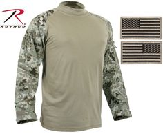 TOTAL TERRAIN CAMO MILITARY COMBAT SHIRTS Military Combat Shirt That's Made For Comfort, But Worn For Protection Designed For Military and Tactical Personnel To Wear Under Hot, Heavy Body Armor and Ta