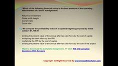 Financial Ratio, Exam Answer, Secondary Market, Final Exams, Financial Markets, Debt, Finals, Flow, Bond