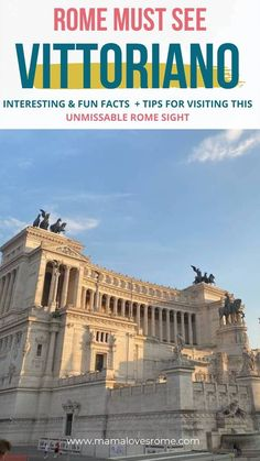 The Vittoriano is one of Rome's most famous buildings. A big white buidling in Rome city center in Neoclassical style, it is one of the must see sites in Rome - these are some interesting facts and tips for visiting the Vittoriano, Rome, Italy