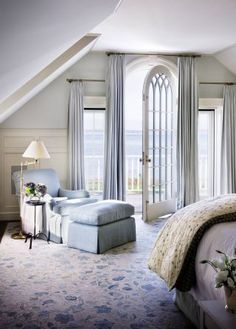 Beach Bedroom. What a beautiful door leading to a breathtaking view.