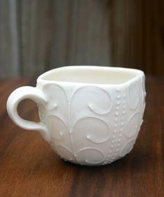 Love this white mug! #glassware #kitchen #coffee