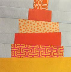 "6.5"" unfinished quilt block tutorial - 42 Quilts: Modern Monday - Block 45"