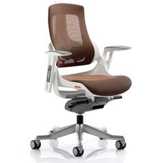 Dynamic Zephyr Executive Mesh Chair with Arms - Orange: Amazon.co.uk: Kitchen & Home