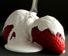 Photography Anne Costello.  Strawberries & Cream!