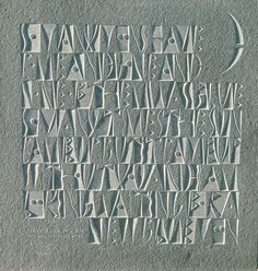 The Art of Letter Carving Calligraphy Letters, Typography Letters, Modern Calligraphy, Lettering Design, Hand Lettering, Stone Masonry, Embossed Paper, Type Posters, Stone Sculpture