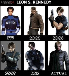 """What does """"actual"""" mean? He's not a REAL person. But 2005 is by far my favorite Leon S. Kennedy of them all."""