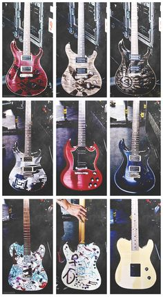 Linkin Park guitars, noice!!!!