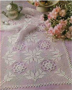 Solo esquemas y diseños de crochet: CAMINO DE MESA