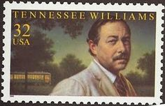 Literary Stamps: Williams, Tennessee – Williams grew up in my hometown of Columbus, Ms. Tennessee Williams, Hans Christian, Agatha Christie, Postcard Postage, Margaret Mitchell, Commemorative Stamps, Going Postal, Book Writer, Vintage Stamps