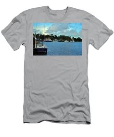 Charm Men's T-Shirt (Athletic Fit) featuring the photograph Calabash Waterfront by Cynthia Guinn