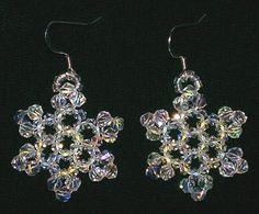 Ice Crystal Snowflake Earrings