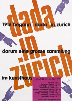 Dada in Zurich by Bill, Max | Shop original vintage #posters online: www.internationalposter.com