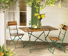 Vintage Biergarten Bistro Table & Four Chairs - This item is no longer available for purchase