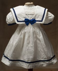 Antique Original Factory Sailor dress for Jumeau Steiner french bebe or German doll