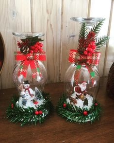 Set of 2 snow globe wine glass candle holders,Christmas decor, Wine decor, Festive decor, Glass deco Grinch Christmas Decorations, Vintage Christmas Crafts, Christmas Crafts To Sell, Christmas Wine, Christmas Centerpieces, Holiday Crafts, Christmas Wreaths, Christmas Candle Holders, Fall Crafts