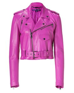 RALPH LAUREN COLLECTION - Hyacinth Glove Leather Jacket