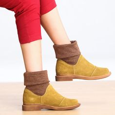 Women  vintage letter boots - Tkdress  - 1
