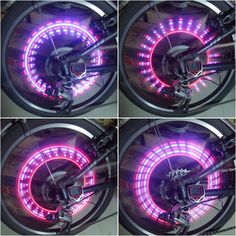 $10 for 2 Motion Activated Purple + Red Multi-Effects 5-LED Wheel Lights for Bikes    This would keep cars from hitting me for sure!