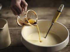 Egg nog is a wonderful drink - being essentially boozy custard. Our easy recipe can be made ahead so you have less to do on Christmas Day. Holiday Recipes, Dinner Recipes, Old Fashioned Kitchen, Eggnog Recipe, English Food, Christmas Baking, Yummy Drinks, Good Food, Easy Meals