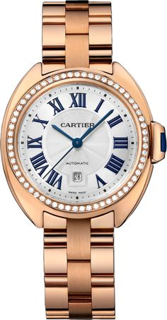 5d2718853e75  Cartier Cle De Cartier Pink (Rose) Gold  Watch Anonyme, Montres Cartier