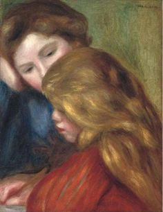 Pierre-Auguste Renoir - La leçon d'écriture, 1885 #arte