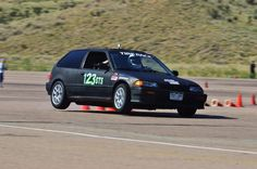 My custom 1989 Honda Civic Si full action shot.