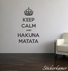 Muurtekst woonkamer letters Keep calm and carry on muursticker tekst ...