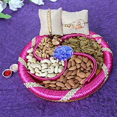 Send Mauli rakhi with dry fruits Gift for your dear brother