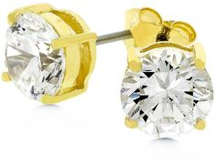 3ct 7mm Round CZ 14k Gold Bonded Sterling Silver Stud. Buy and sell on www.buyerxpo.com Totally free!!!