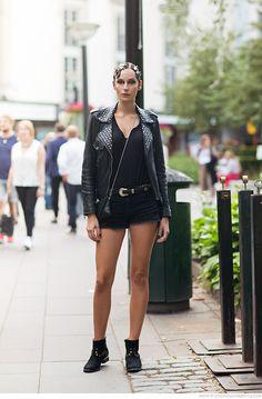 short shorts. #SimonaKarlsson #offduty in Stockholm.