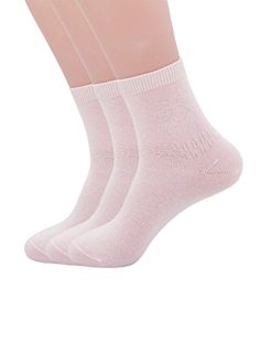 Womens Candy Colors Fashion bow Cotton Crew Socks 3 Pairs Light Pink >>> Click on the image for additional details.
