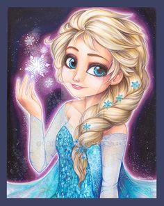 Elsa Frozen Fanart copic markers by Sakuems.deviantart.com on @DeviantArt