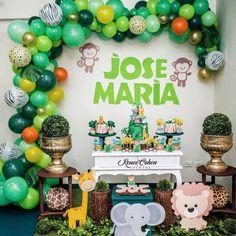 Safari Birthday Cakes, Boys 1st Birthday Party Ideas, Jungle Theme Birthday, Baby Boy 1st Birthday, Safari Party, Baby Shower Decorations For Boys, Boy Baby Shower Themes, Baby Boy Shower, Lion King Baby Shower